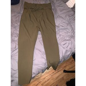 Cute Army Green Trousers